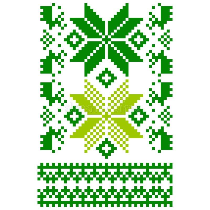 Weiß gestrickter skandinavischer Schal vektor abbildung