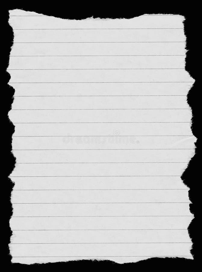Weiß gezeichnetes Papier stockfoto