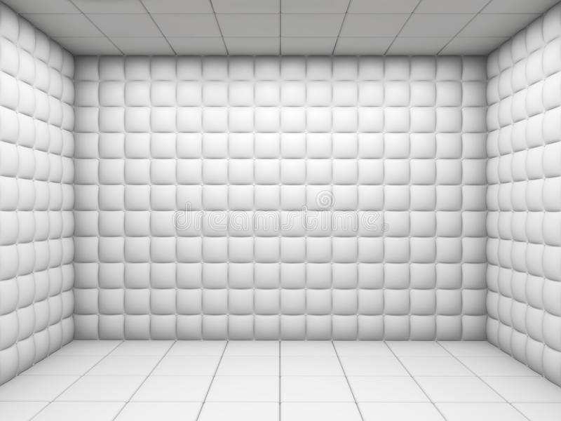 Weiß leeren Sie aufgefüllten Raum lizenzfreie abbildung