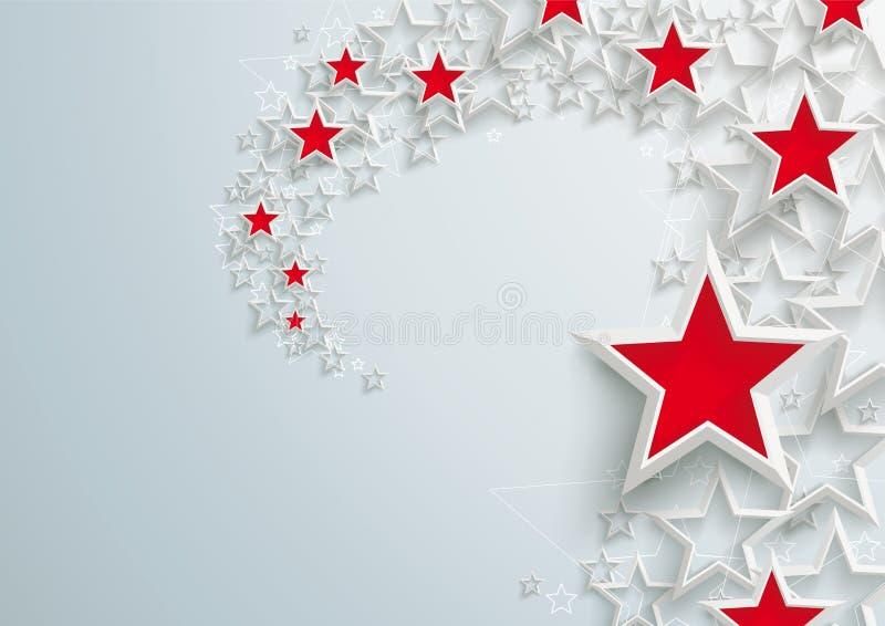 Weiß spielt rotes Stardust die Hauptrolle vektor abbildung