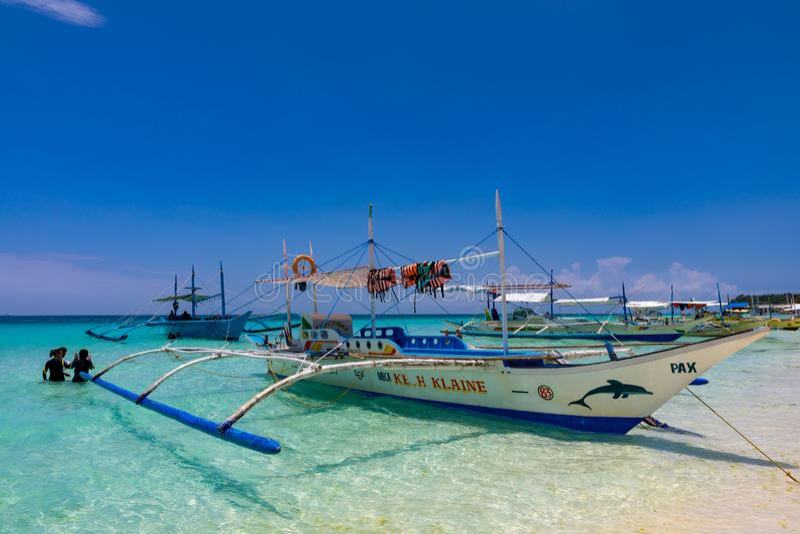 Wei?, Strand, Boracay, Philippinen stockbild