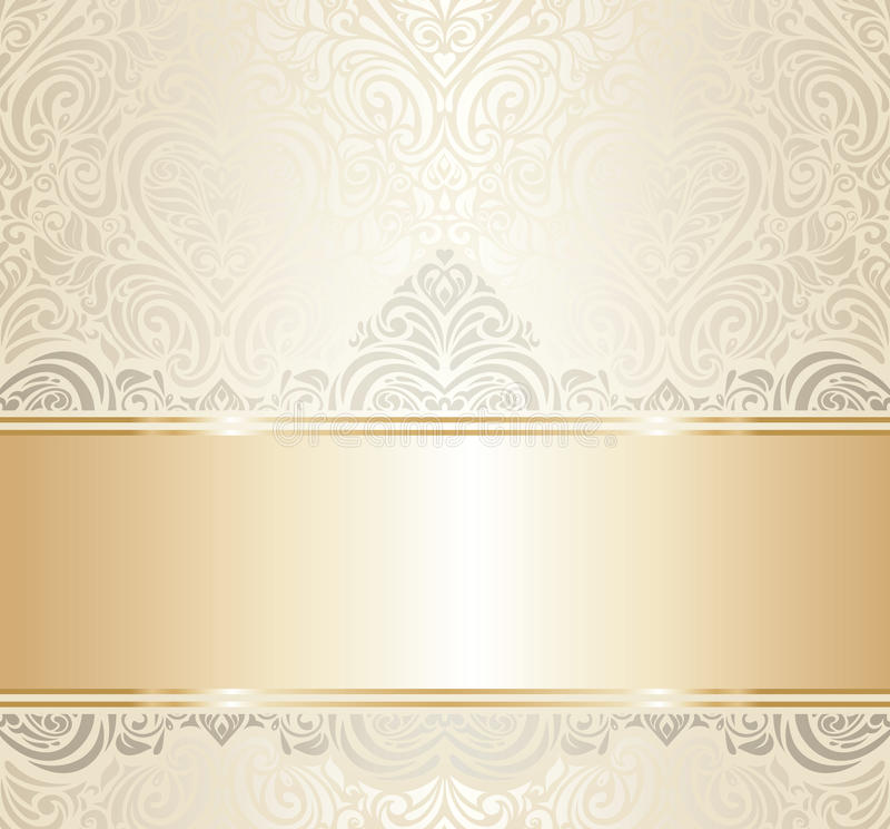 Weiß u. Goldweinleseeinladungsluxusdesign vektor abbildung