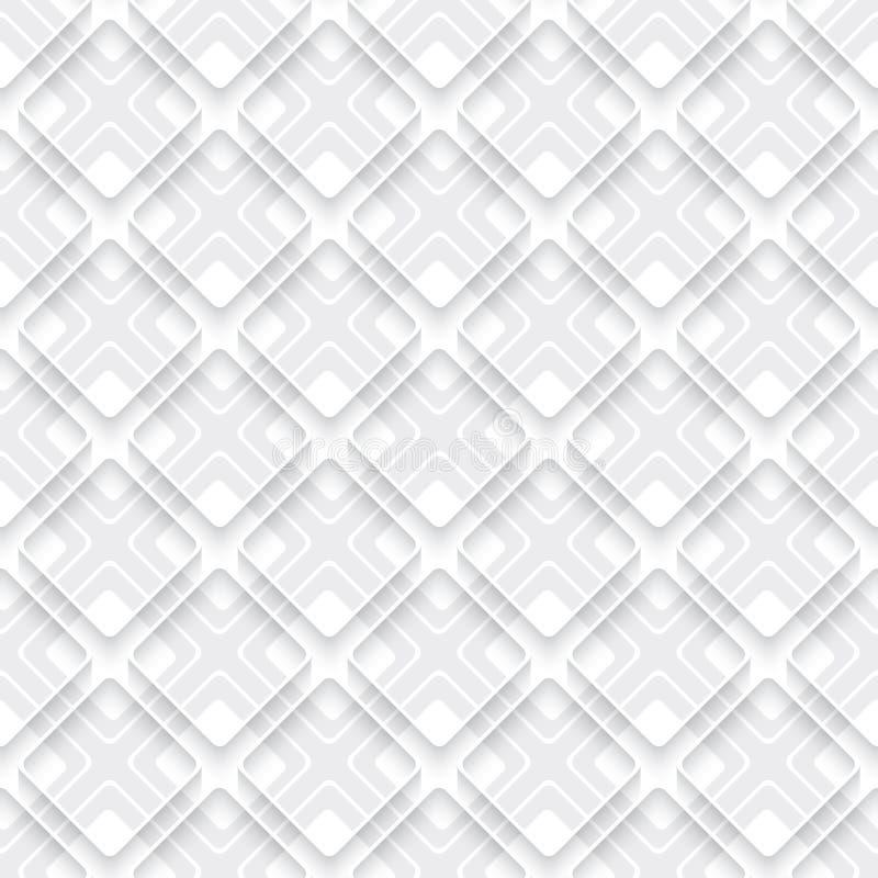 Weiß und Grau überlagert mit Kante lizenzfreie abbildung