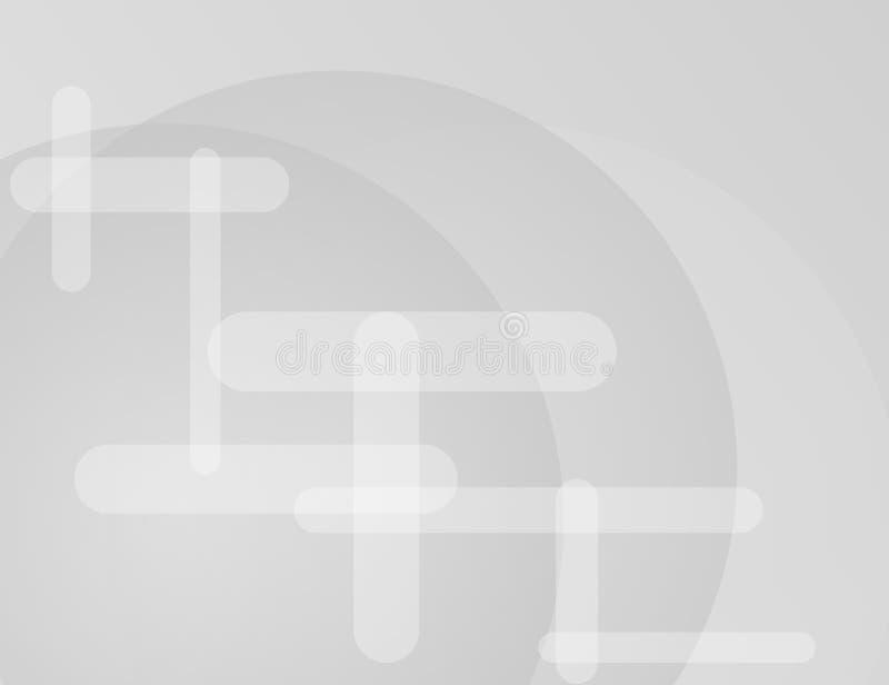 Weiß und Grey Geometric Technology Background für Ihr Design lizenzfreie abbildung