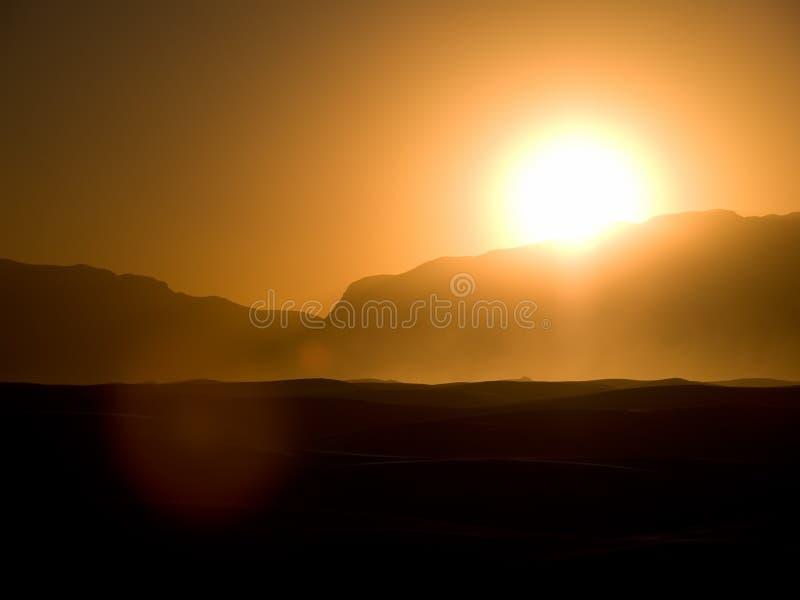 Weiß versandet Sonnenuntergang 2 stockfotografie