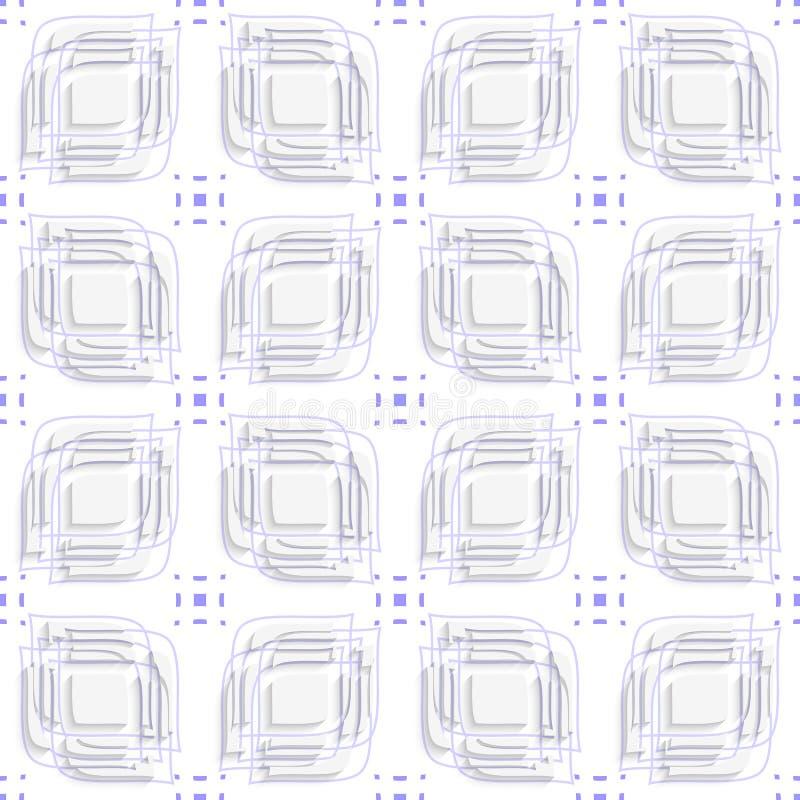 Weißblätter spalteten auf und überlagerten die purpurroten nahtlosen Details lizenzfreie abbildung