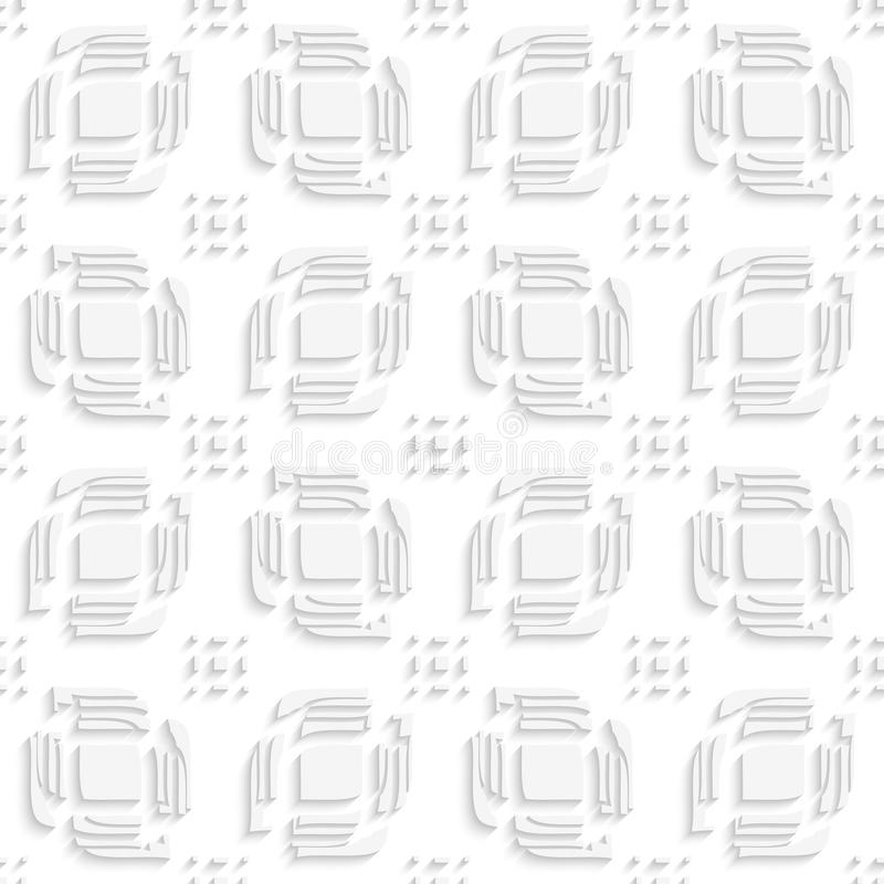 Weißblätter spalteten die nahtlosen Anzeigenrechteckgruppen auf stock abbildung