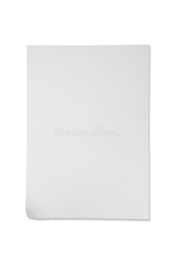 Weißbuch auf weißer Hintergrund lokalisierter Vertikale stockbild
