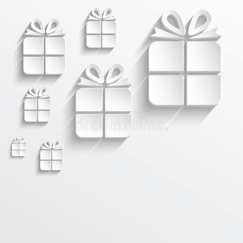Weißbuch 3D des Weihnachtsgeschenks lizenzfreie abbildung