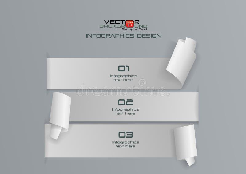 Weißbuch 3d Infographics-Design stock abbildung