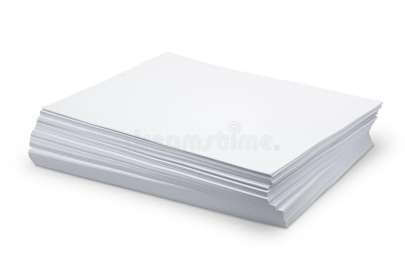Weißbuch des Stapels lizenzfreie stockfotografie
