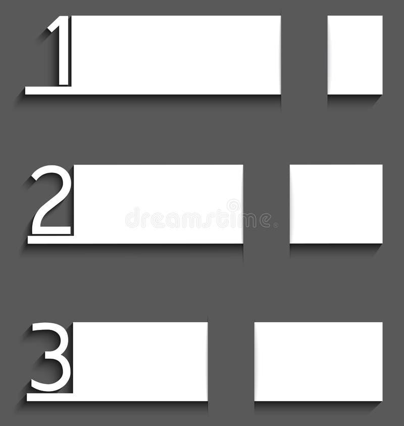 Weißbuch Infographic mit Zahlen vektor abbildung