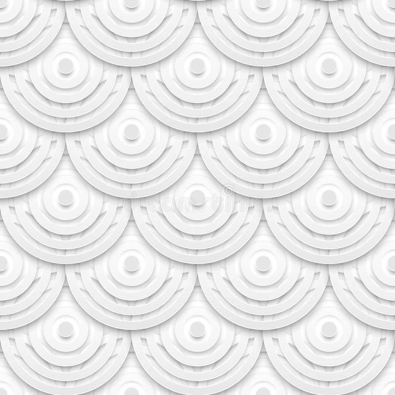 Weißbuch kreist nahtloses Muster ein vektor abbildung