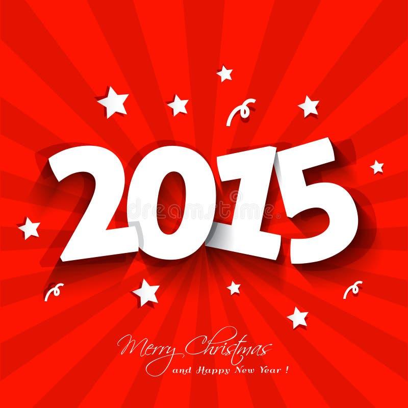 Weißbuch 2015 Parteieinladung neuen Jahres mit St. stock abbildung