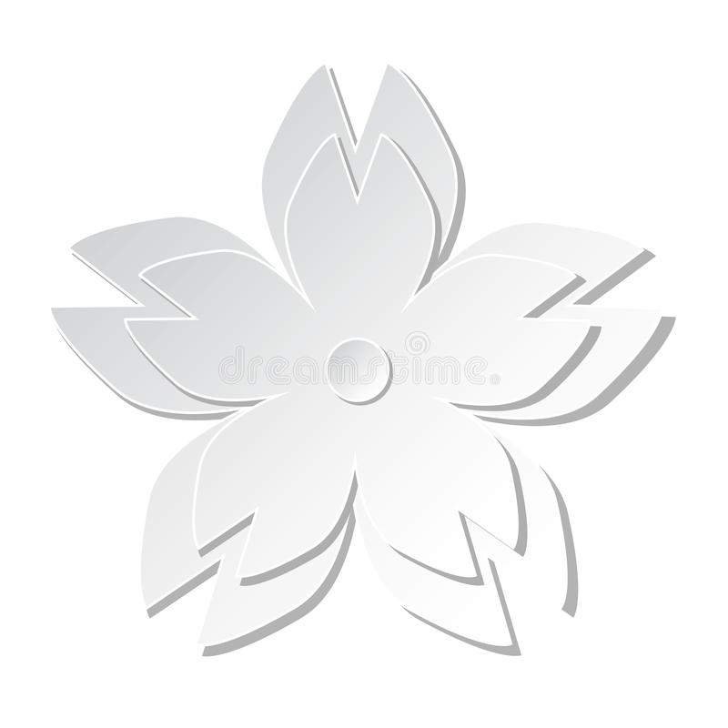 Weißbuchausschnitt-Kirschblüten-Blumenkirschblüte-Kunst vektor abbildung
