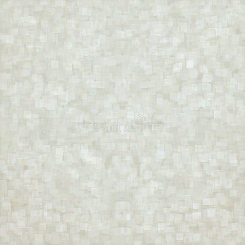Weißbuchbeschaffenheitszusammenfassungshintergrund mit subtilem hellem Würfelmuster vektor abbildung