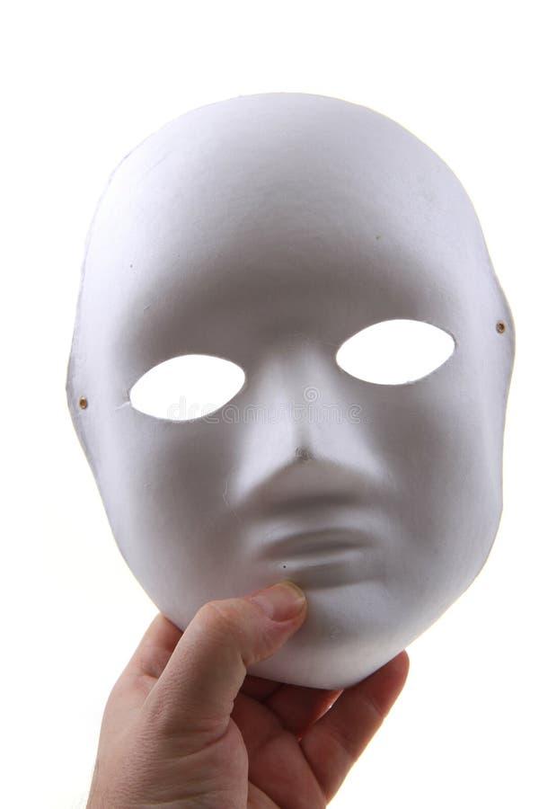 Weißbuchmaske lokalisiert lizenzfreie stockbilder