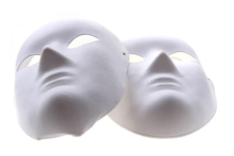 Weißbuchmasken lokalisiert stockbilder
