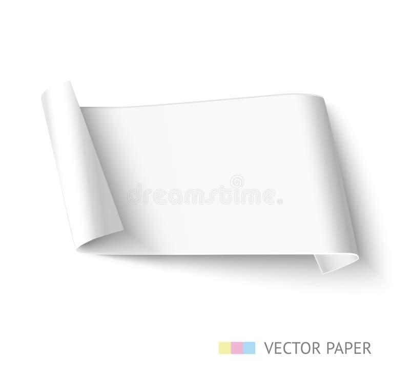 Weißbuchrollenlanges Design für Netzfahne lizenzfreie abbildung