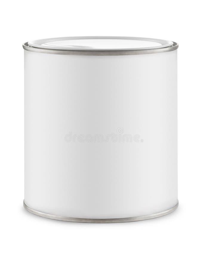 Weißdose Farbe lizenzfreies stockfoto
