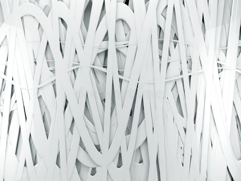 weißer abstrakter Hintergrund 3d vektor abbildung
