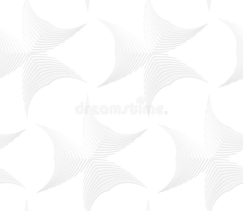 weiße abstrakte spitze Formen der Streifen 3D lizenzfreie abbildung