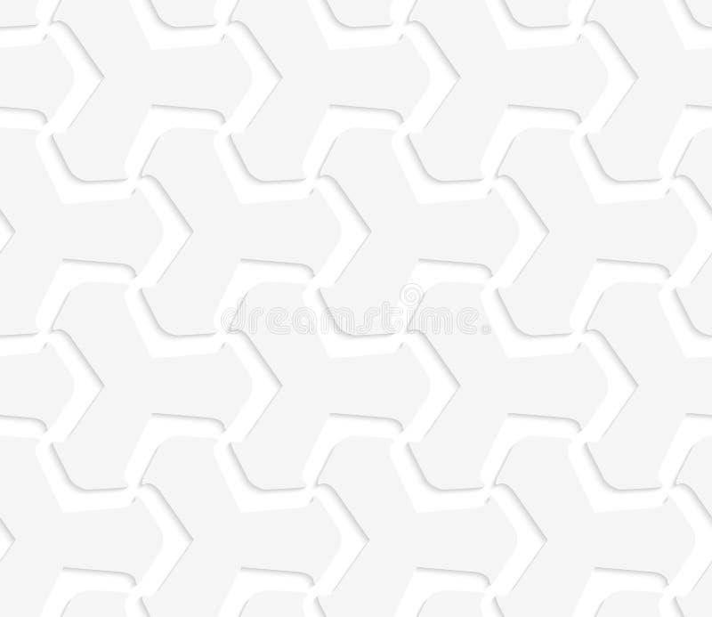 weiße abstrakte tetrapods 3D stock abbildung