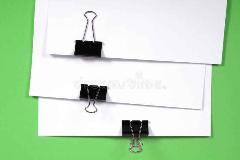 Weiße Anmerkungsauflage lizenzfreie stockbilder