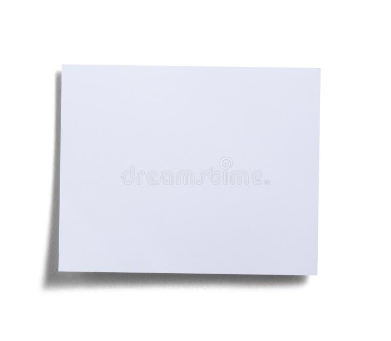 Weiße Anmerkungsauflage lizenzfreies stockbild