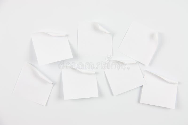 Weiße Anmerkungspapiere stockfoto