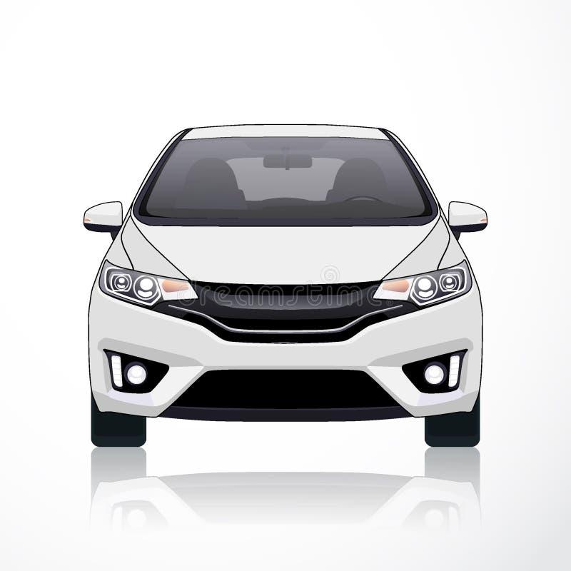 Weiße Auto-Ikonen-Guss-Ansicht Auch im corel abgehobenen Betrag lizenzfreies stockfoto
