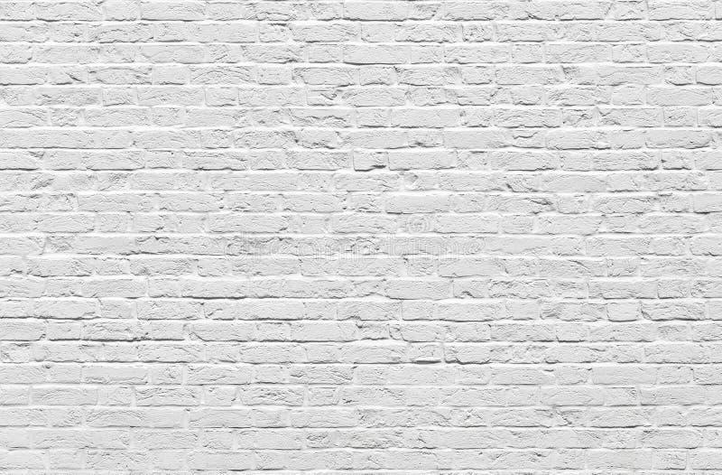 Weiße Backsteinmauer lizenzfreie stockfotografie