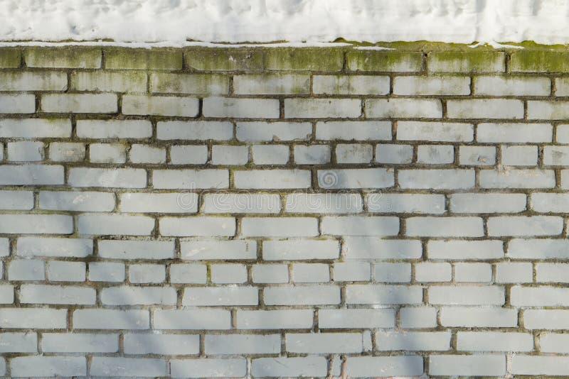 Weiße Backsteinmauer mit Form lizenzfreie stockbilder