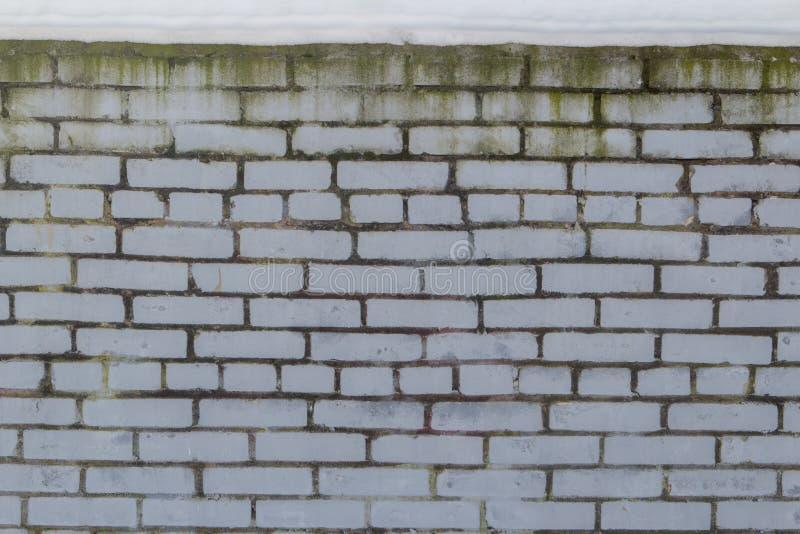 Weiße Backsteinmauer mit Form lizenzfreie stockfotos
