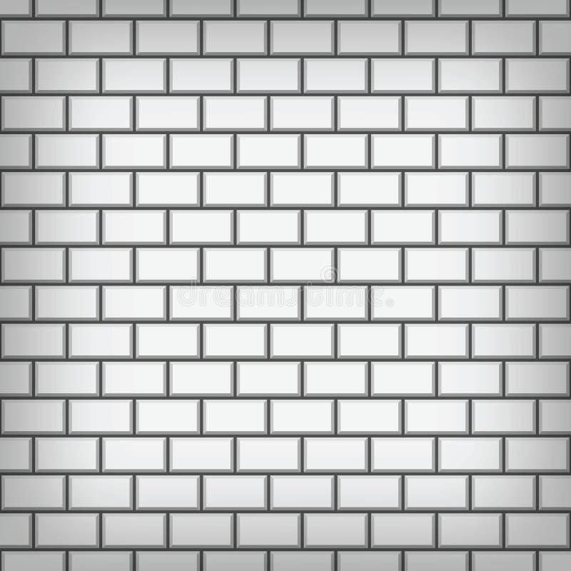 Weiße Backsteinmauervektorkunst stock abbildung
