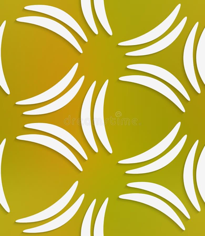 Weiße Bananenformen auf nahtlosem Muster der Masche vektor abbildung