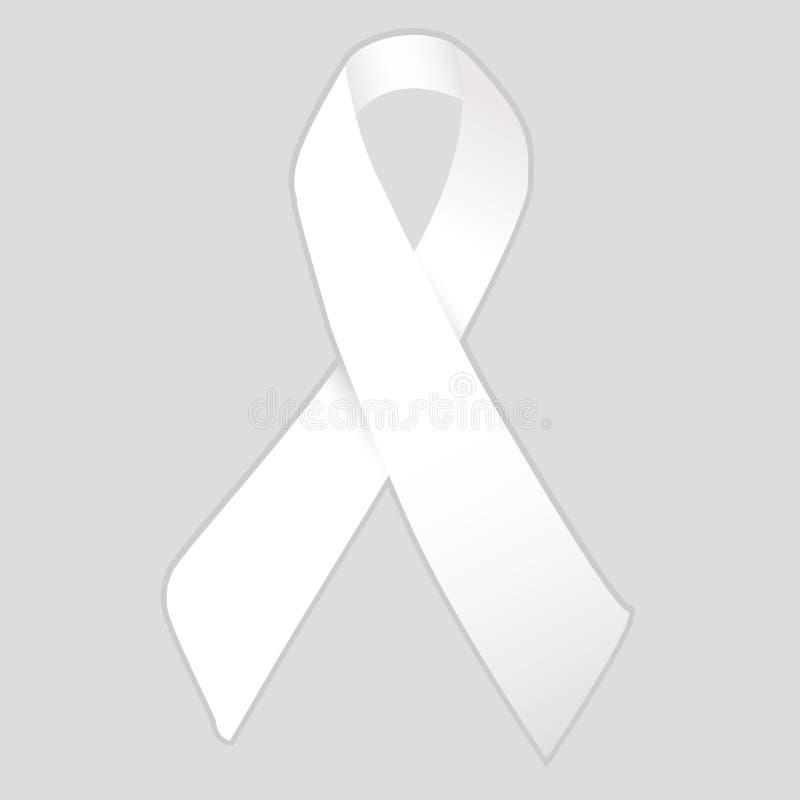 Weiße Band Kampagne lizenzfreie abbildung