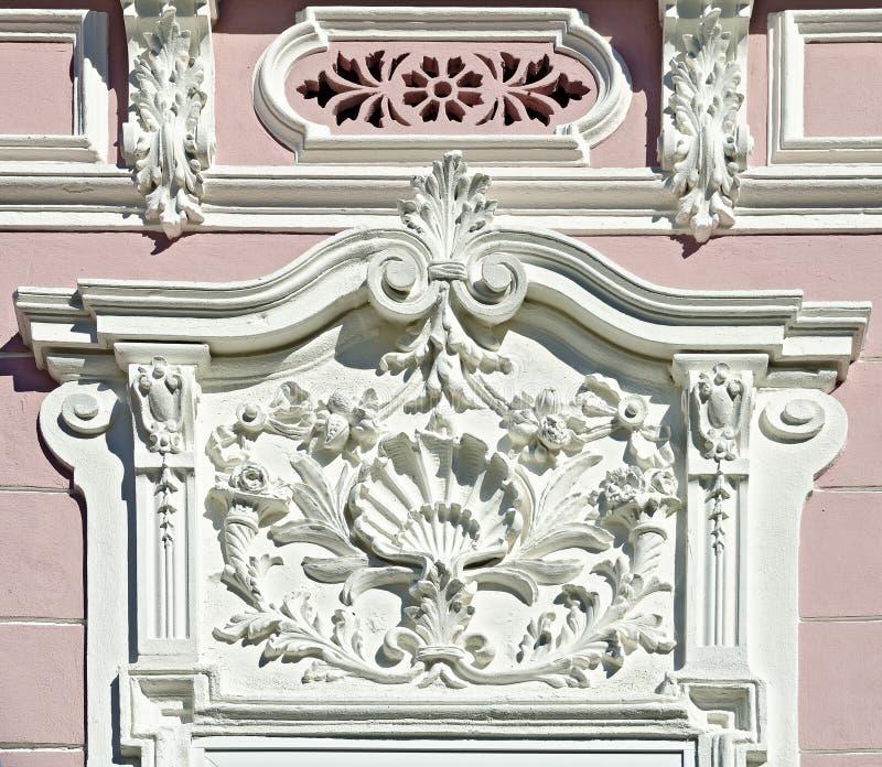 Weiße Barocke Architekturdekoration Stockbild - Bild von gesims ...