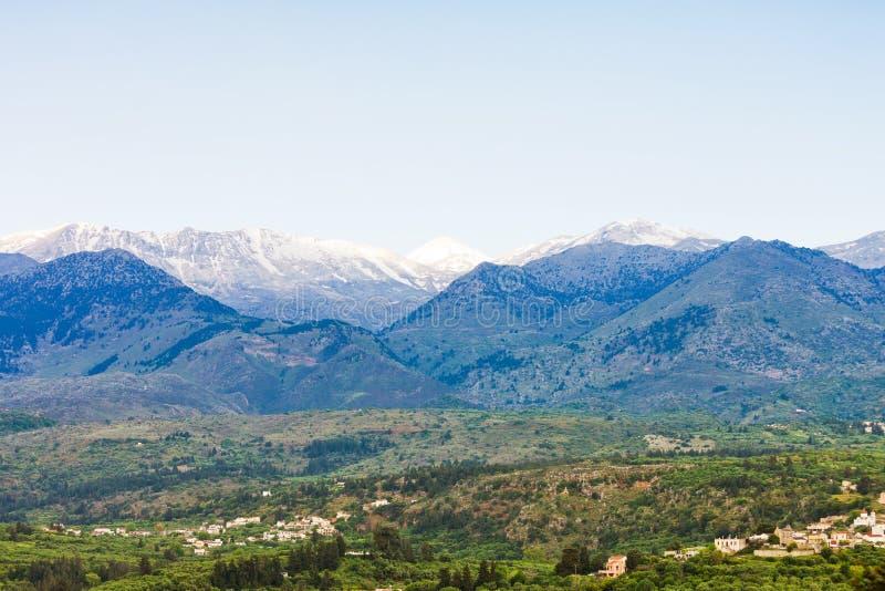 Weiße Berge Stockfoto
