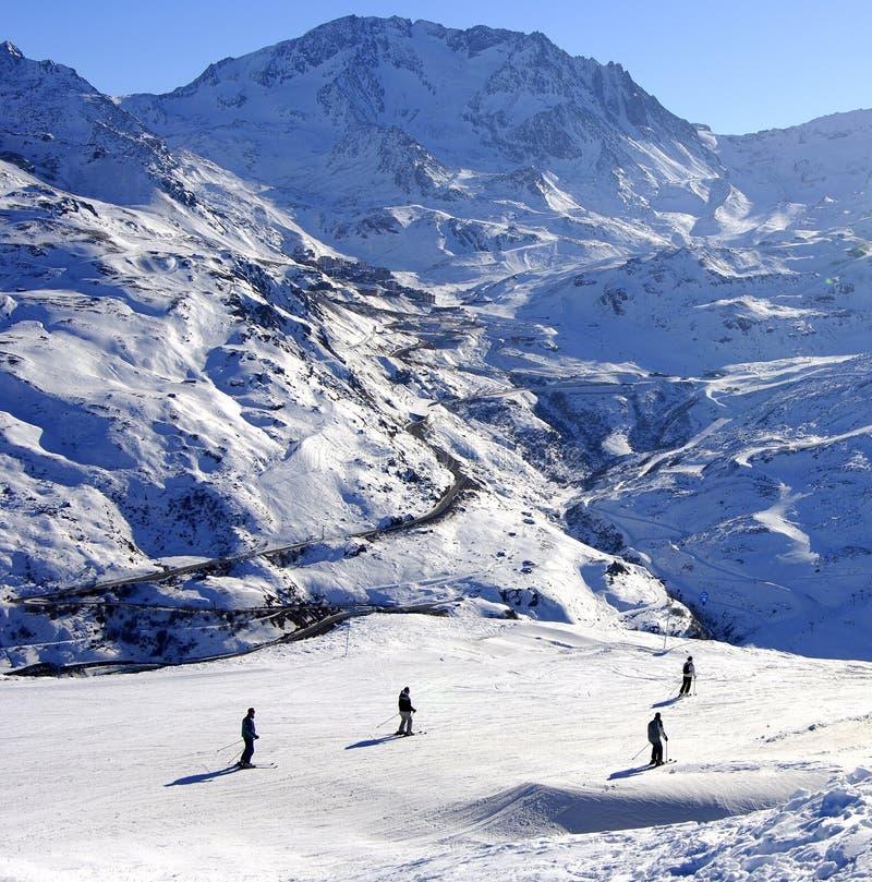 Weiße Berge lizenzfreie stockbilder
