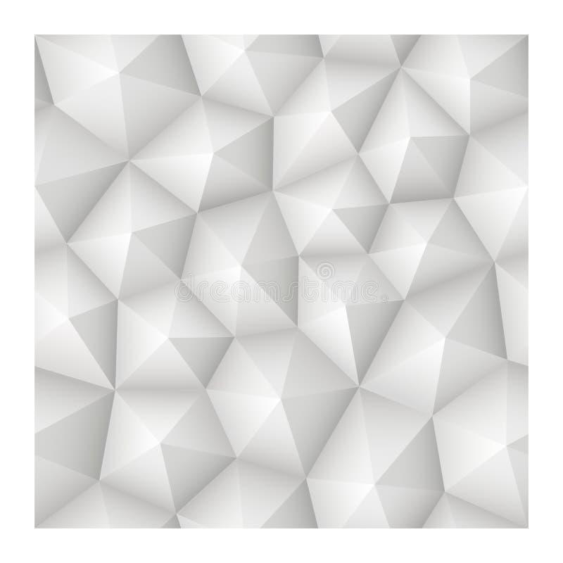 Weiße Beschaffenheit des nahtlosen geometrischen abstrakten Vektors 3d mit niedrigem Pol vektor abbildung