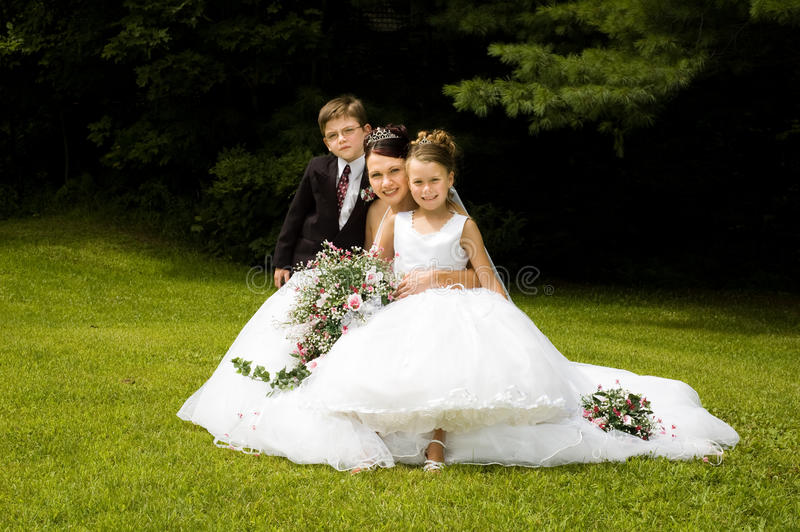 Weiße Braut lizenzfreie stockfotografie