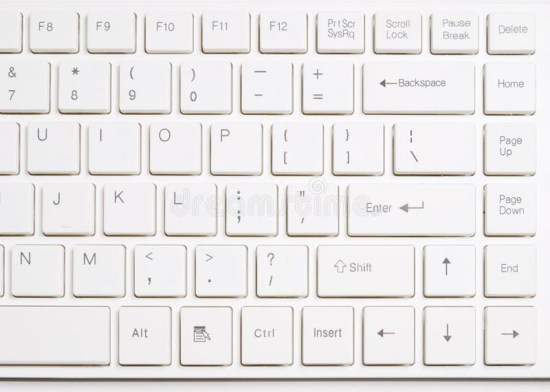 Weiße Computertastatur lizenzfreie stockbilder