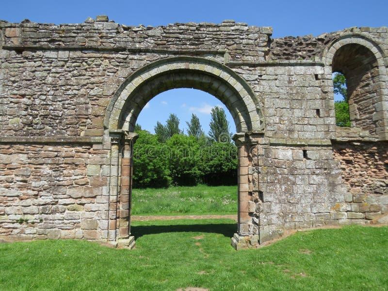 Weiße Damen Kloster, Shropshire, England stockfotos