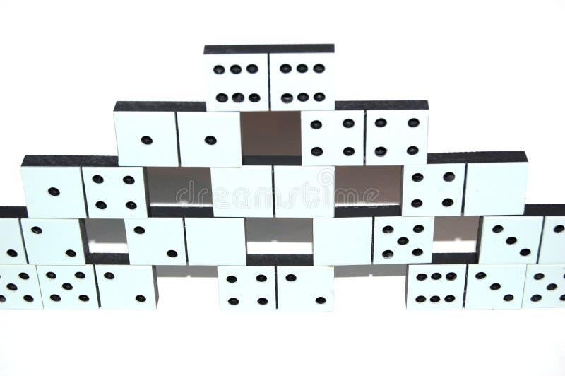 Weiße Dominosteine lizenzfreies stockfoto