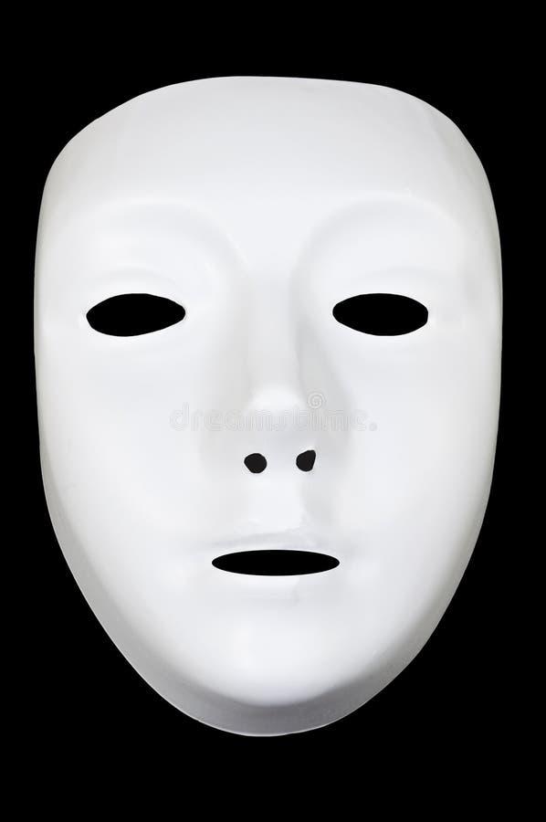 Weiße Drama-Schablone stockfoto