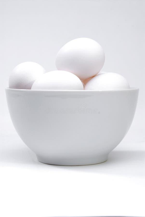 Weiße Eier lizenzfreie stockfotografie