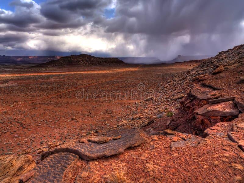 Weiße Felgen-Spur stockfoto