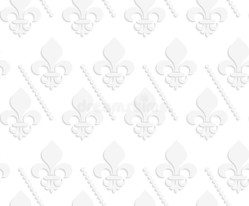 Weiße feste Lilie 3D mit Punkten stock abbildung