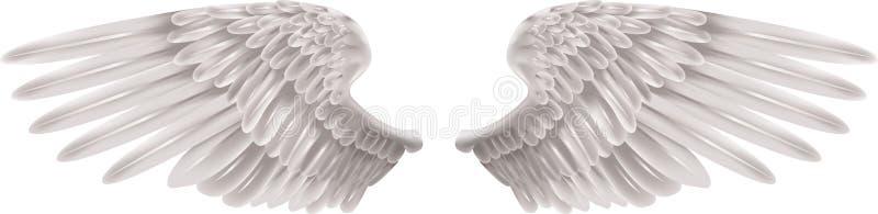 Weiße Flügel lizenzfreie abbildung